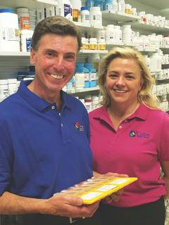 Daniel Cutie, R.Ph., and Marilyn Goulty, C.P.A, owners of Cutie Pharma-Care in Greenwich, N.Y.