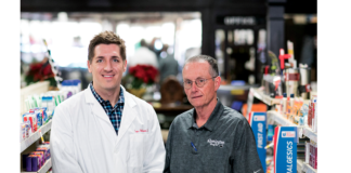 Al Roberts, Pharm.D., and Travis Hale, Pharm.D., co-owners of Remington Drugs in Remington, Va.