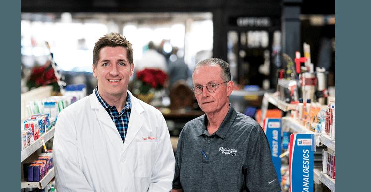 Al Roberts, Pharm.D., and Travis Hale, Pharm.D., co-owners of Remington Drugs in Remington, Va.