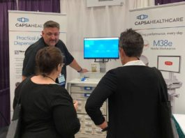 Chris Miller, Capsa Healthcare Product Manager, with the NexsysADC