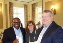 From left, Rite Aid's Jermaine Smith, CarePoint's Sarah Salton, and Tabula Rasa HealthCare's Tom Wilson