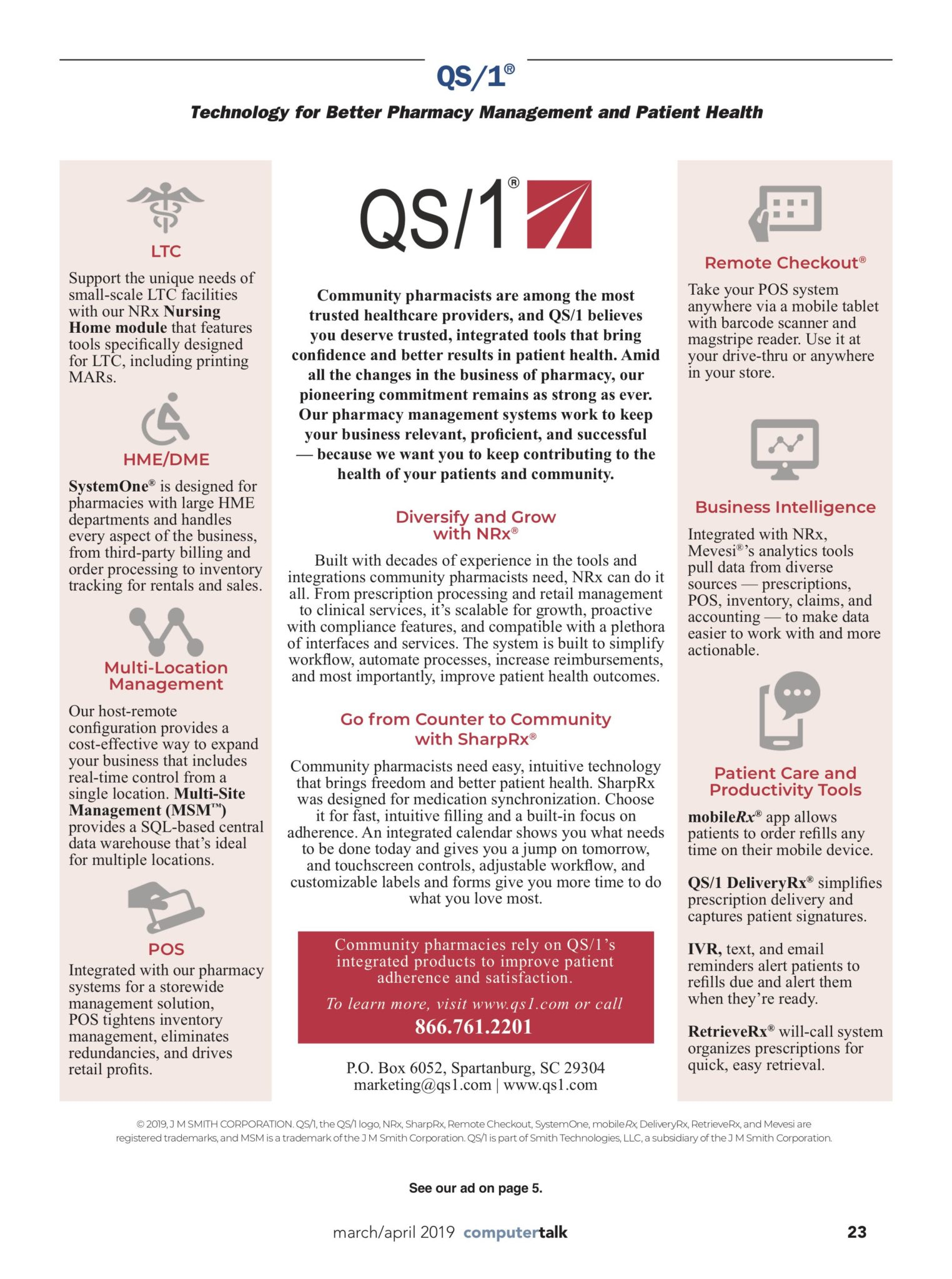 QS/1 Pharmacy Management Systems | ComputerTalk for the