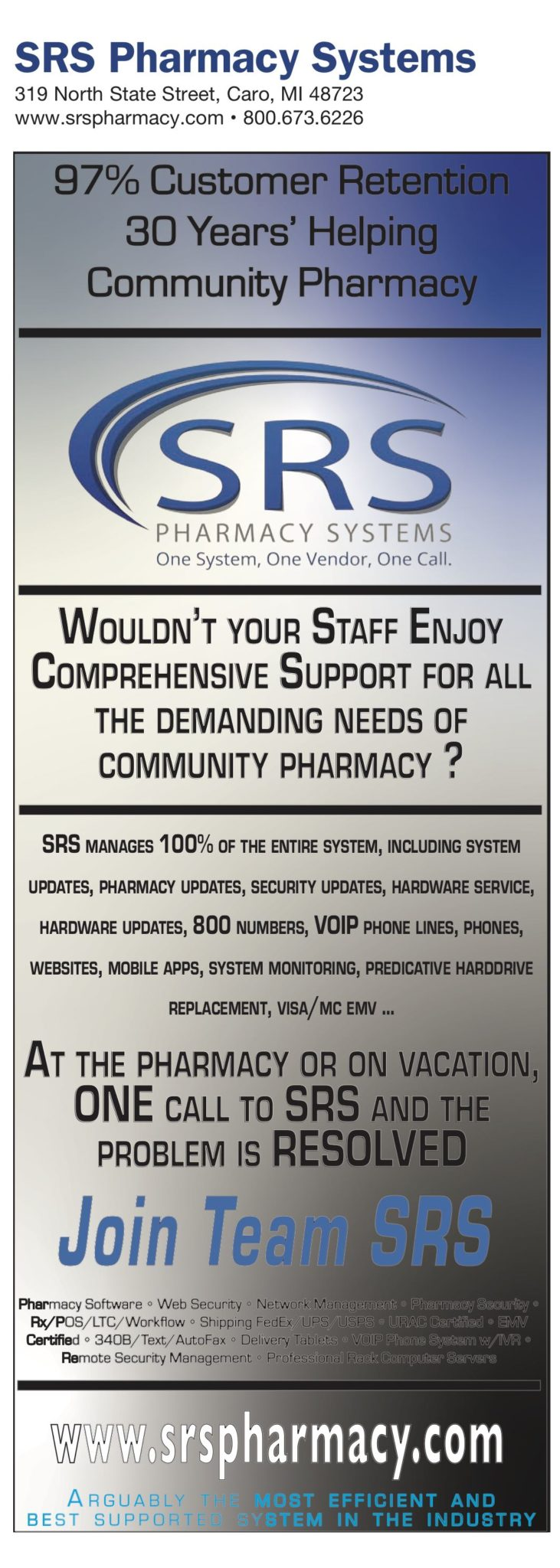 ComputerTalk_2019_Pharmacy_Buyers_Guide_38_SRS_Pharmacy_Software