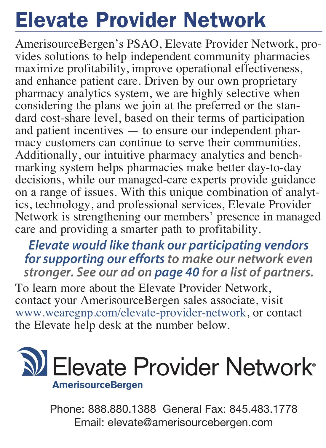 ComputerTalk_2019_Pharmacy_Buyers_Guide_40_Elevate_Provider_Network