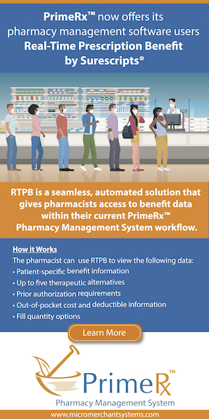 Micro Merchant Systems PrimeRx Real-Time Prescription Benefit Surescripts