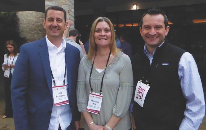 Jeff Romano, Michelle Kirk, and Ian Matthews of HomeTown Pharmacy