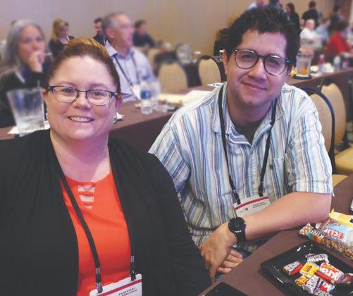 Megan McCaskill, of Horizon Pharmacy, and Hector Mejia, of Salud Pharmacy