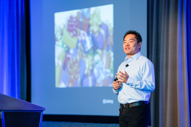Jia Jiang, TED Talks speaker, motivated the crowd to have the courage to overcome the fear of rejection.