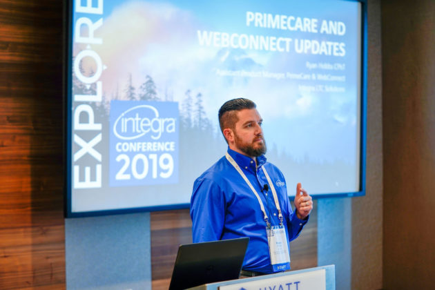 Ryan Hobbs, assistant product manager at Integra, led one of the 25-plus classes and 8 CEU classes to further attendees' knowledge of industry trends and Integra products.