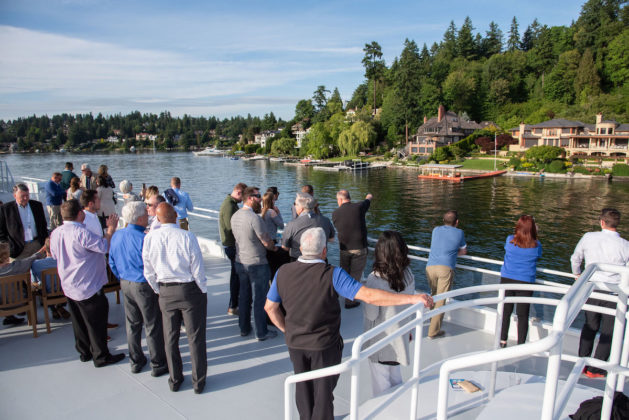 The weather held out for all to enjoy a three-hour cruise on beautiful Lake Washington.
