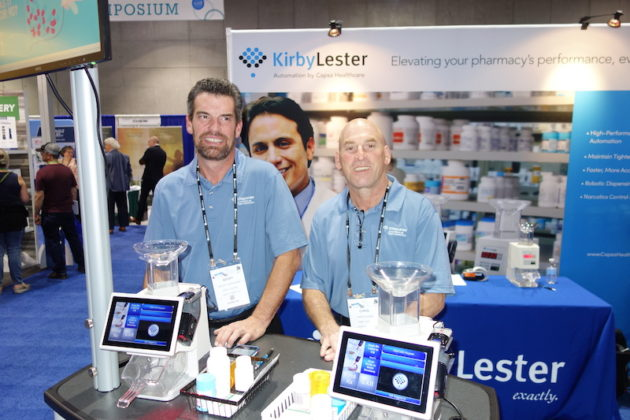 National Community Pharmacists Association 2019 Conference and Trade Show Exhibits Kirby Lester's Geoff Dutcher, left, and Chris Shine.