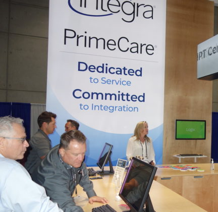 National Community Pharmacists Association 2019 Conference and Trade Show Exhibits Attendees checking in at the Integra exhibit.