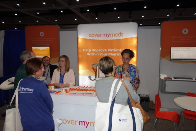 National Community Pharmacists Association 2019 Conference and Trade Show Exhibits Attendees at the CoverMyMeds exhibit.