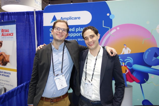 National Community Pharmacists Association 2019 Conference and Trade Show Exhibits Nick Brooke, left, and Matt Johnson from Amplicare.