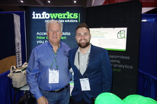 National Community Pharmacists Association 2019 Conference and Trade Show Exhibits Richard Ost from Philadelphia Pharmacy, left, and Travis Mazna from InfoWerks.