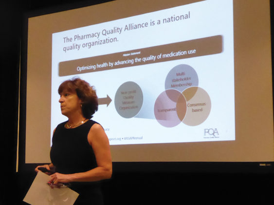 Laura Cranston, CEO, Pharmacy Quality Alliance, gave an overview on how social determinants of health influence outcomes, utilization, and cost in healthcare, and how the alliance is collecting and using the data in patient care, performance measurements, and payment systems.