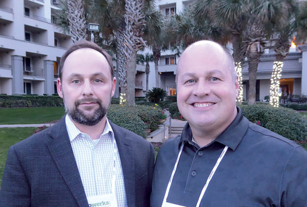 Louie Foster, director of ancillary products, Smith Technologies, left, with Sean Ramsey, VP and GM, pharmacy at Updox.