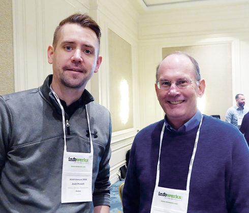 Josh Powell, director, software development, left, and Jim Springer, president, Kalos.