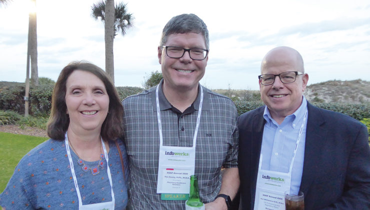Kathy Kosty; Tim Kosty, co-founder, Pharmacy Healthcare Solutions, center, and Ken Whittemore, VP, professional and regulatory affairs, Surescripts. Tim spoke on the California Consumer Privacy Act.