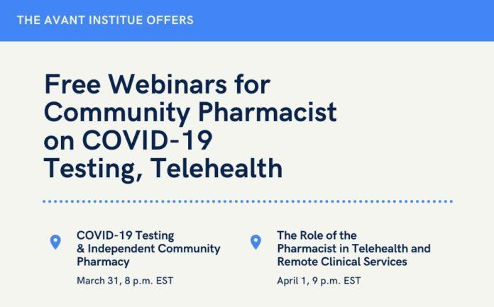 The Avant Institute is hosting two free webinars this week in response to the coronavirus crisis.