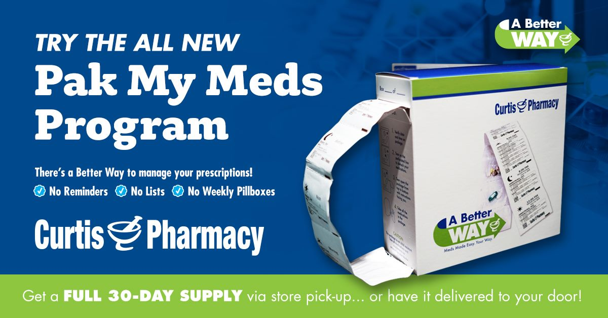 Curtis Pharmacy Med Sync and Packaging